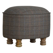 Load image into Gallery viewer, Jonathan Stool comes in grey and an oak finish with a country style and is available from roomshaped.co.uk
