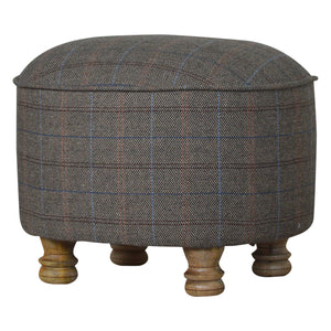 Jonathan Stool comes in grey and an oak finish with a country style and is available from roomshaped.co.uk