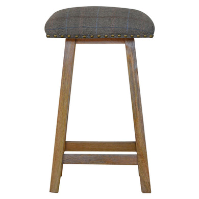 Victor Bar Stool comes in an oak finish with a country style and is available from roomshaped.co.uk