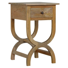 Load image into Gallery viewer, Gabrielle Side Table comes in an oak finish with a french style and is available from roomshaped.co.uk