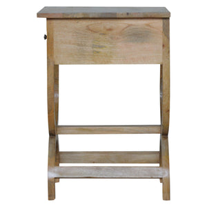 Gabrielle Side Table comes in an oak finish with a french style and is available from roomshaped.co.uk