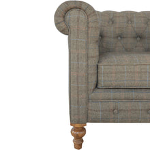 Load image into Gallery viewer, Kate Chesterfield Armchair comes in brown with a country style and is available from roomshaped.co.uk