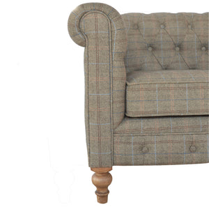 Alice 2 Seat Chesterfield Sofa comes in brown with a country style and is available from roomshaped.co.uk