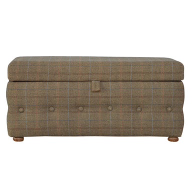 Benjamin Chest Bench comes in brown with a country style and is available from roomshaped.co.uk