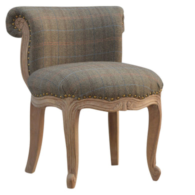 Fabien Petite Chair comes in brown and an oak finish with a french style and is available from roomshaped.co.uk