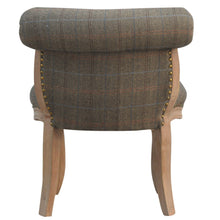 Load image into Gallery viewer, Fabien Petite Chair comes in brown and an oak finish with a french style and is available from roomshaped.co.uk