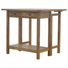 Load image into Gallery viewer, Barbara Breakfast Table and Stools comes in an oak finish with a country style and is available from roomshaped.co.uk