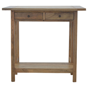 Barbara Breakfast Table and Stools comes in an oak finish with a country style and is available from roomshaped.co.uk