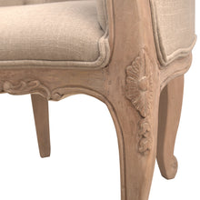 Load image into Gallery viewer, Lily Bedroom Chair comes in brown with a french style and is available from roomshaped.co.uk