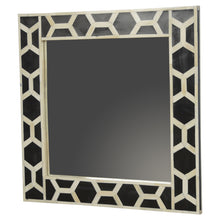 Load image into Gallery viewer, Agata Mirror comes in black with a geometric style and is available from roomshaped.co.uk