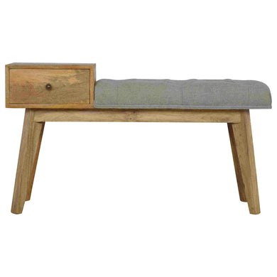 Agatha Tweed Bench has a country style and is available from roomshaped.co.uk