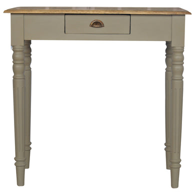Emma Laptop Desk comes in an oak finish with a painted style and is available from roomshaped.co.uk
