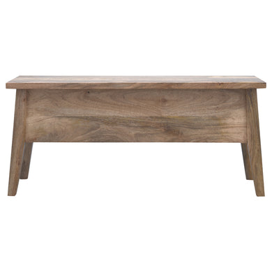 Magdalena Storage Bench comes in an oak finish with a painted style and is available from roomshaped.co.uk