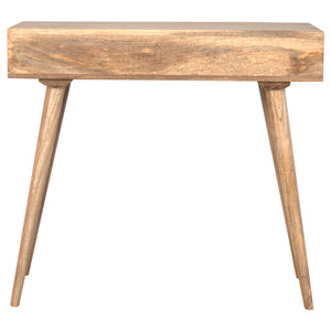 Saighton Writing Desk comes in an oak finish and is available from roomshaped.co.uk