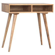 Load image into Gallery viewer, Tickford Writing Desk comes in an oak finish and is available from roomshaped.co.uk