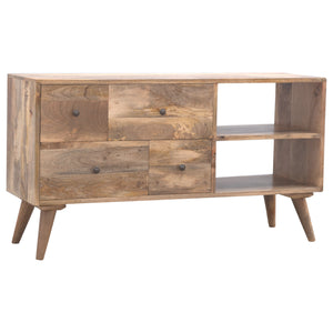 Kasia Media Unit comes in an oak finish with a country style and is available from roomshaped.co.uk