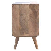 Load image into Gallery viewer, Kasia Media Unit comes in an oak finish with a country style and is available from roomshaped.co.uk