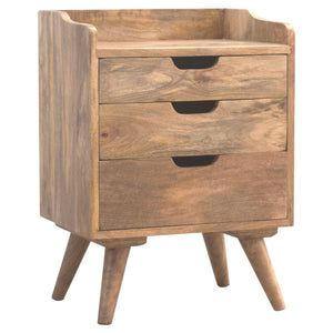 Jozef Bedside Table comes in an oak finish with a country style and is available from roomshaped.co.uk