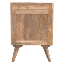 Load image into Gallery viewer, Jozef Bedside Table comes in an oak finish with a country style and is available from roomshaped.co.uk