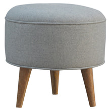 Load image into Gallery viewer, Enzo Stool comes in grey with a country style and is available from roomshaped.co.uk