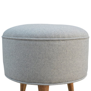 Enzo Stool comes in grey with a country style and is available from roomshaped.co.uk