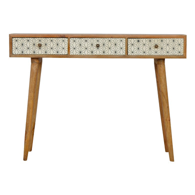 Repton Console comes in an oak finish with a painted style and is available from roomshaped.co.uk