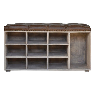 Pierre Storage Bench comes in an oak finish with a country style and is available from roomshaped.co.uk