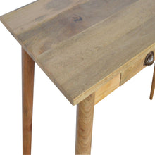 Load image into Gallery viewer, Stonely Writing Desk comes in an oak finish with a deco style and is available from roomshaped.co.uk