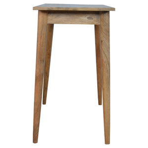 Stonely Writing Desk comes in an oak finish with a deco style and is available from roomshaped.co.uk