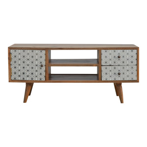 Ebba Media Unit has a painted style and is available from roomshaped.co.uk