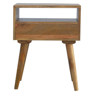 Ake Bedside Table comes in grey and white with a painted style and is available from roomshaped.co.uk