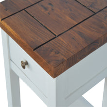 Load image into Gallery viewer, Celine Tall Table comes in white with a country style and is available from roomshaped.co.uk
