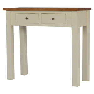 Liv Slim Console comes in white with a country style and is available from roomshaped.co.uk