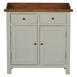Charles Cupboard comes in white with a country style and is available from roomshaped.co.uk