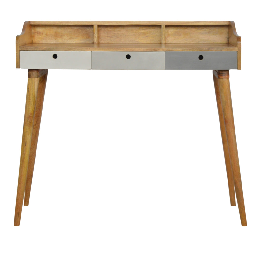 Chetwode Desk comes in grey with a painted style and is available from roomshaped.co.uk