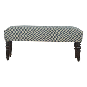 Sebastian Bench comes in blue with a country style and is available from roomshaped.co.uk