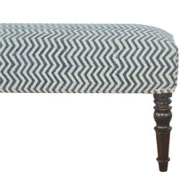 Load image into Gallery viewer, Sebastian Bench comes in blue with a country style and is available from roomshaped.co.uk