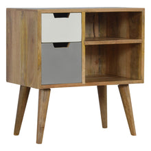 Load image into Gallery viewer, Yasmine Cabinet comes in grey with a painted style and is available from roomshaped.co.uk
