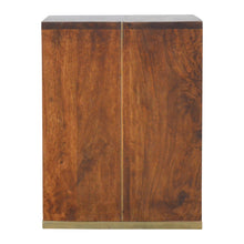 Load image into Gallery viewer, Radmila Side Table comes in chestnut with a deco style and is available from roomshaped.co.uk