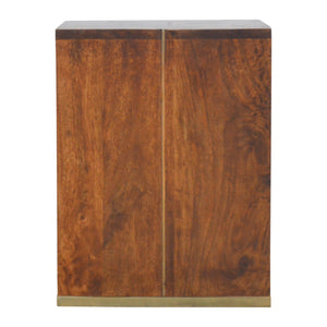 Radmila Side Table comes in chestnut with a deco style and is available from roomshaped.co.uk