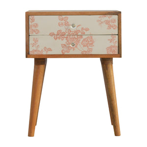 Edith Bedside Table comes in an oak finish with a country style and is available from roomshaped.co.uk