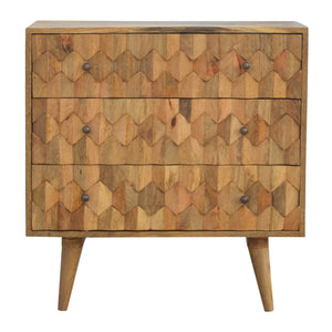 Godzimir Chest of Drawers comes in an oak finish with a country style and is available from roomshaped.co.uk