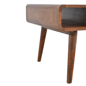 Luuk Coffee Table comes in a chestnut finish with a deco style and is available from roomshaped.co.uk