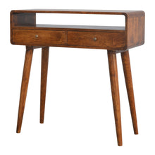 Load image into Gallery viewer, Sele Console Table has a deco style and is available from roomshaped.co.uk