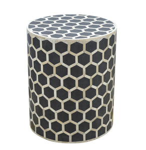 Albina Side Table comes in black with a geometric style and is available from roomshaped.co.uk