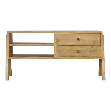 Elisa Media Unit comes in an oak finish with a country style and is available from roomshaped.co.uk