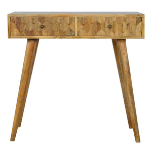 Lavendon Desk comes in an oak finish with a studio style and is available from roomshaped.co.uk