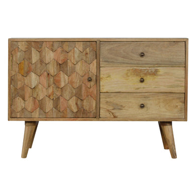 Tamara Sideboard comes in an oak finish with a country style and is available from roomshaped.co.uk