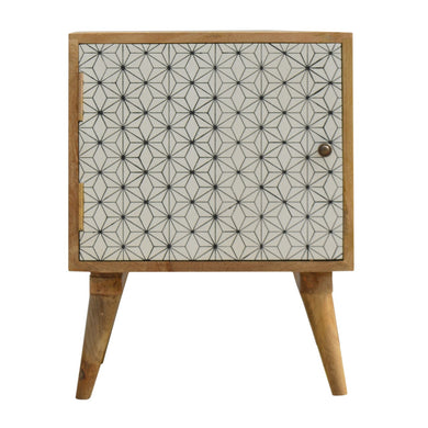 Tyra Bedside Table comes in white with a painted style and is available from roomshaped.co.uk