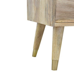 Marek Media Unit comes in an oak finish with a geometric style and is available from roomshaped.co.uk